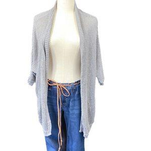 AEO all cotton sleeveless cardigan Lg